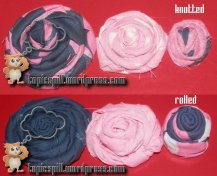 Compare Rolled And Knotted Forever Flowers