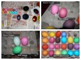 Easter Eggs Before And After Vinegar