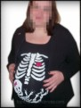 Pregnant Skeleton DIY Halloween Shirt