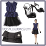 Kate Young For Target Look 14 Peplum Dress w/ Tulle -Navy/Black
