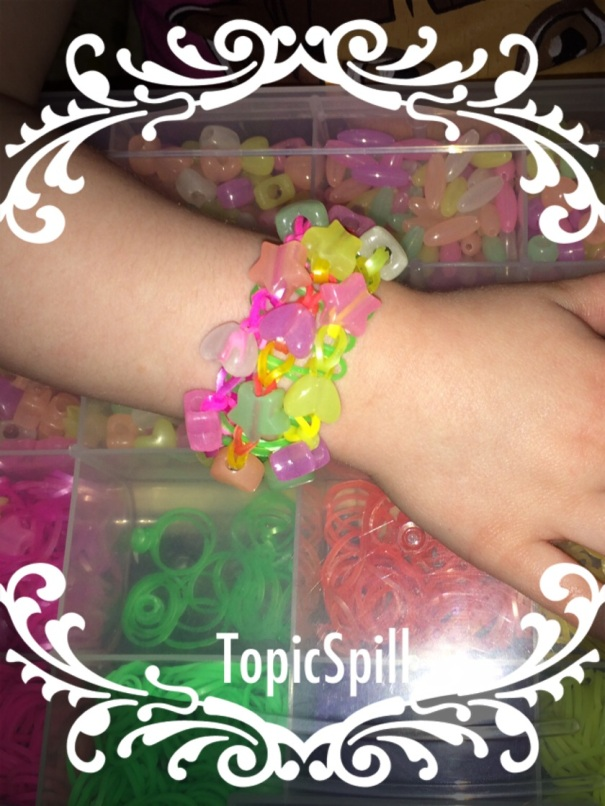DIY Beaded Triple Single Loom Bracelet